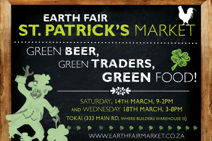 Celebrate St Patrick's Day at the Earth Fair Market in Tokai