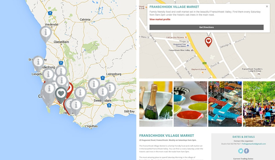 cape markets map